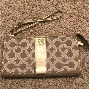 Coach gold signature wallet & wristlet